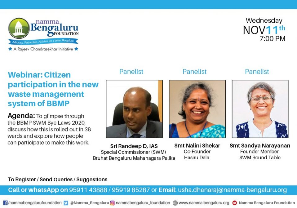 Webinar on the new waste management system of BBMP