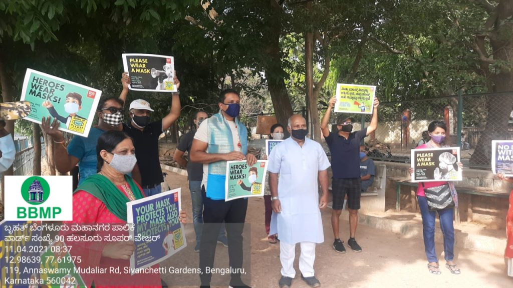 Awareness Drives on #MaskOnSpitNot Campaign