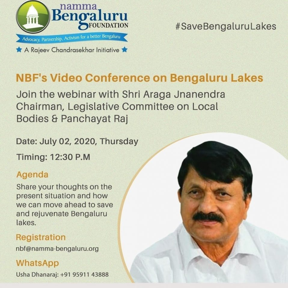 NBF's video conference on Bengaluru Lakes