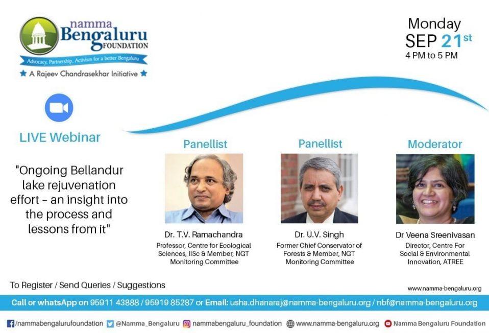 """Webinar on the""""Ongoing Bellandur lake rejuvenation effort"""""""