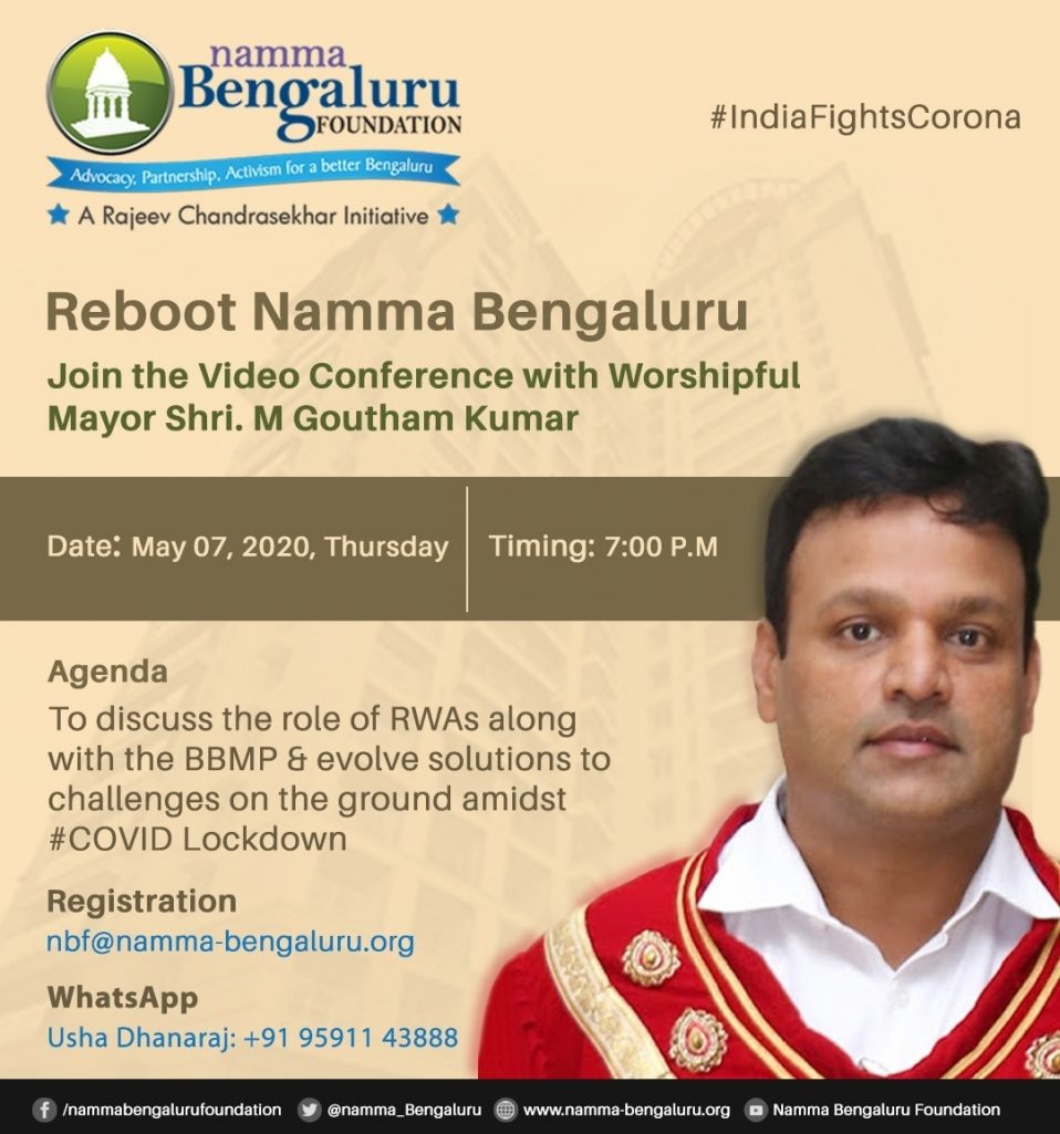 Video conference with BBMP Mayor Shri M Goutham Kumar
