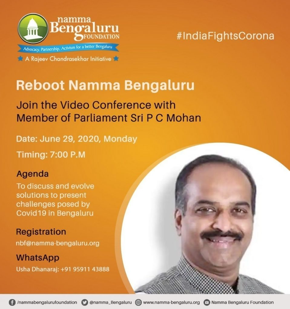 Covid 19- Video conference with Member of Parliament Sri P C Mohan