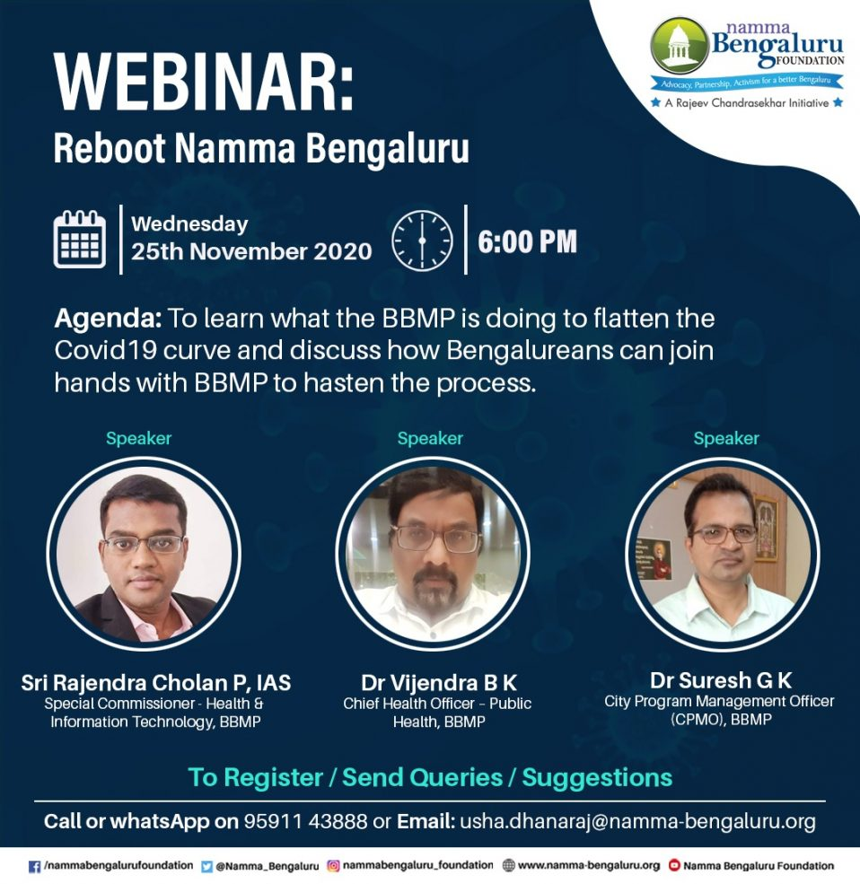 NBF facilitated a Video conference withSpecial Commissioner (Health & Information Technology) Sri Rajendra Cholan, IAS, BBMP