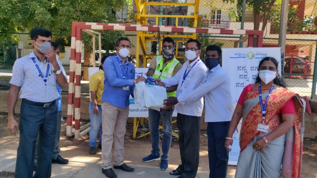 Distribution Drive on the occasion of Founder Trustee, NBF & Member of Parliament Sri Rajeev Chandrasekhar Birthday