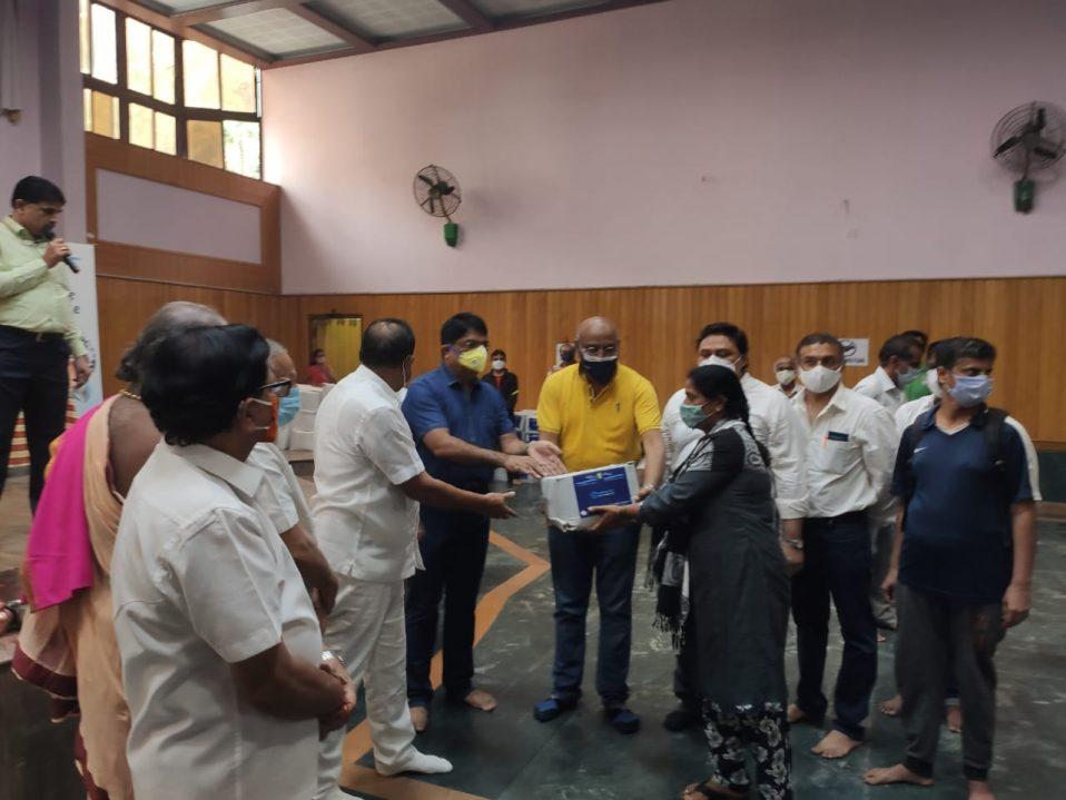 Distribution of Grocery Kits at Basavangudi