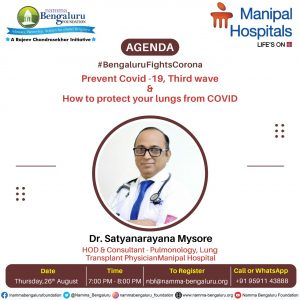 Webinar: Bengaluru Fights Corona Protecting Citizens of Bengaluru Episode 7 - Prevent COVID-19,Third wave & how to protect your lungs from COVID